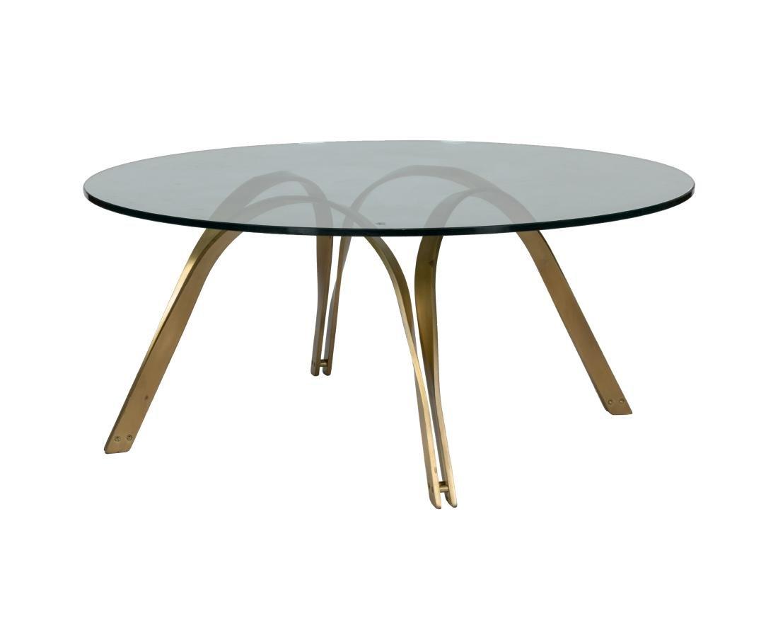 Gilt Iron and Glass Coffee Table