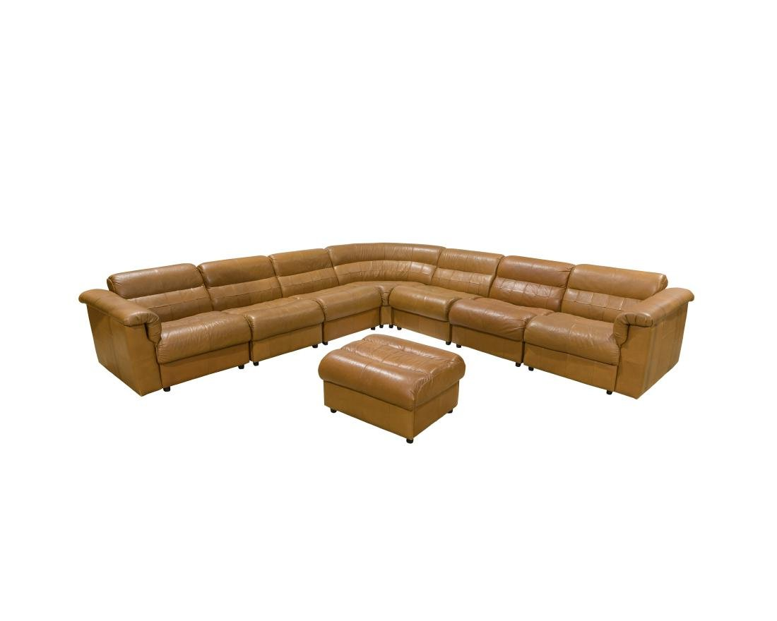 Percival Lafer Leather Sectional - Signed