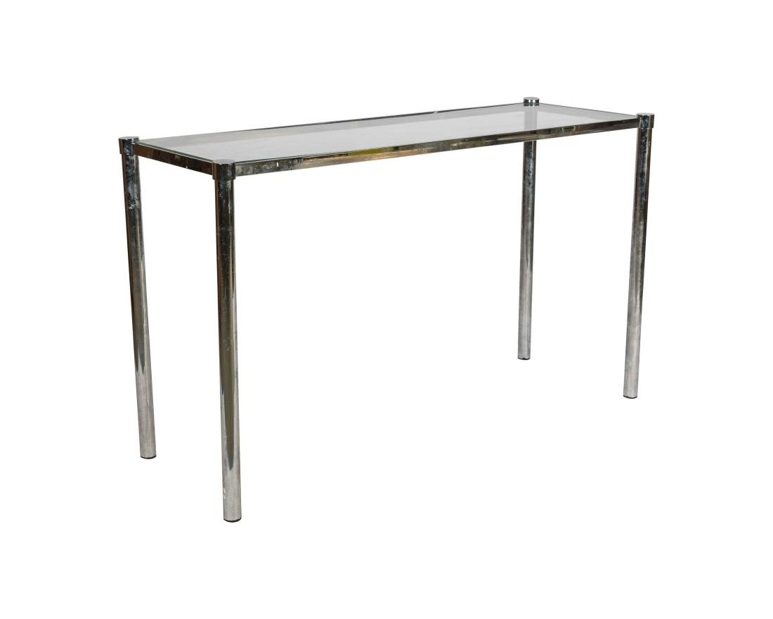 Pace Collection Glass and Chrome Console