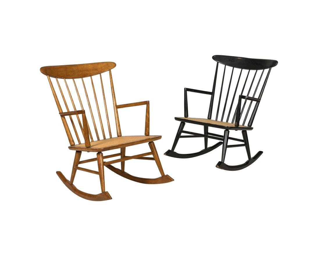 Danish Style Rocking Chairs - Two