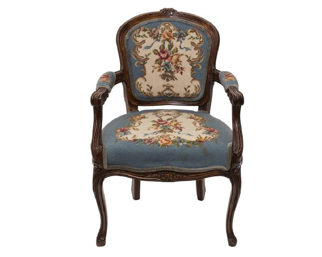 French Needlepoint Arm Chair