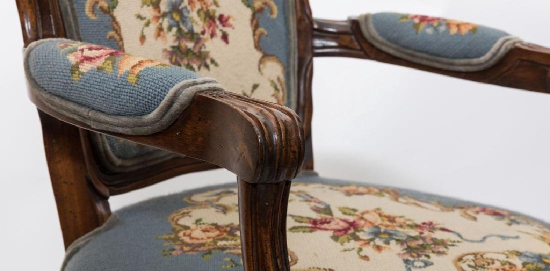 French Needlepoint Arm Chair - 3