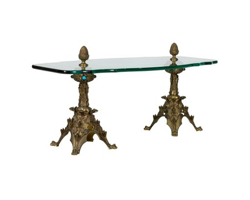 Admirable Jeweled Bronze Gothic Style Coffee Table Download Free Architecture Designs Xerocsunscenecom