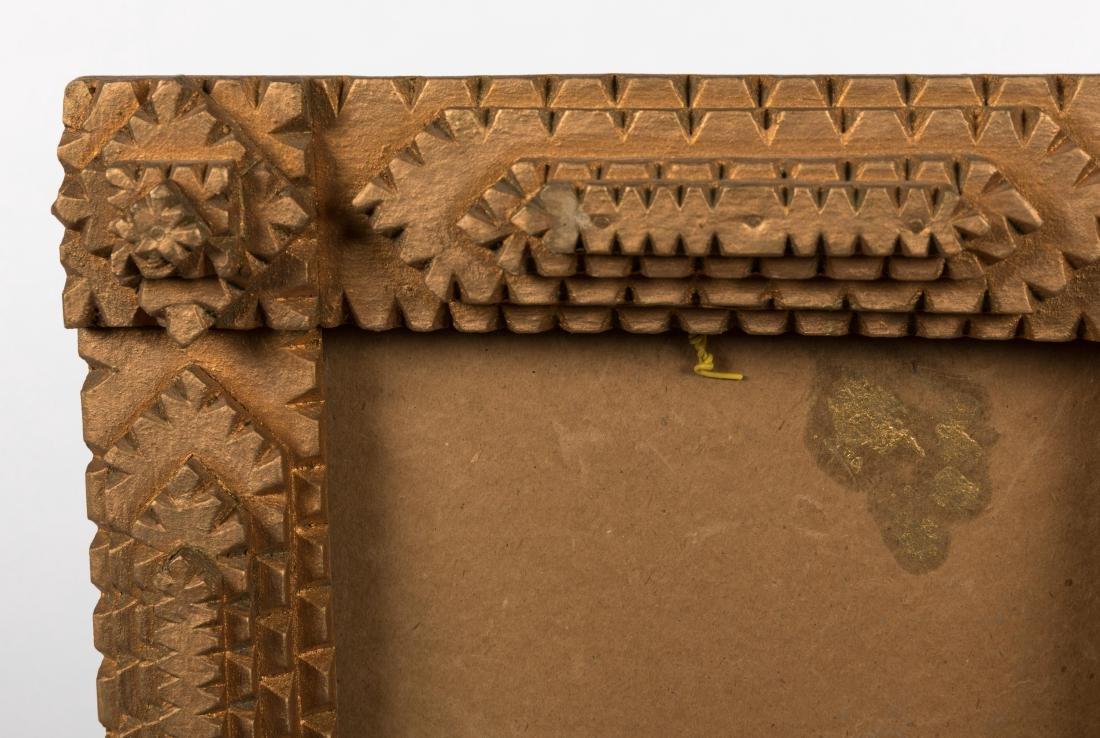 Tramp Art Carved Wood Frame - 2