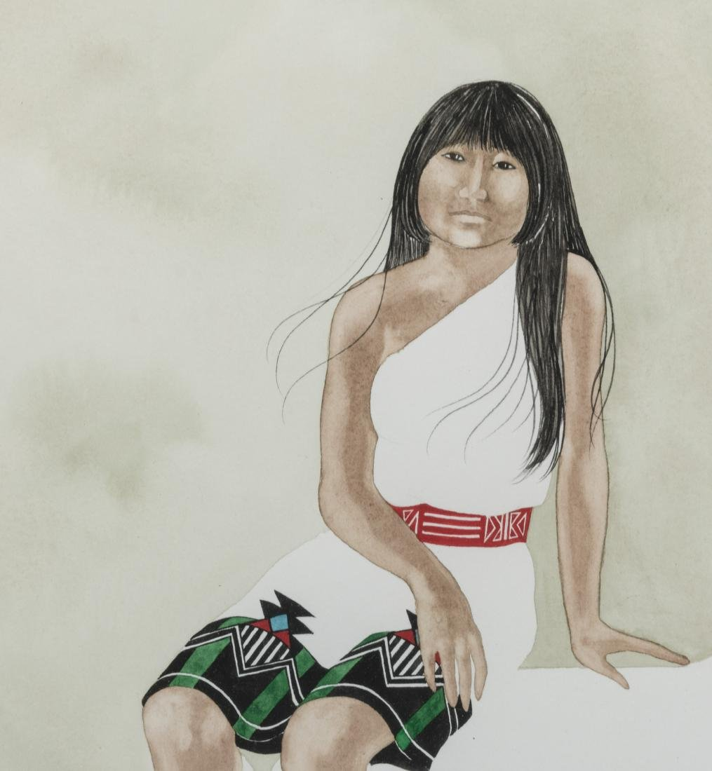 Dyanne Strongbow - Two Native American Watercolors - 2