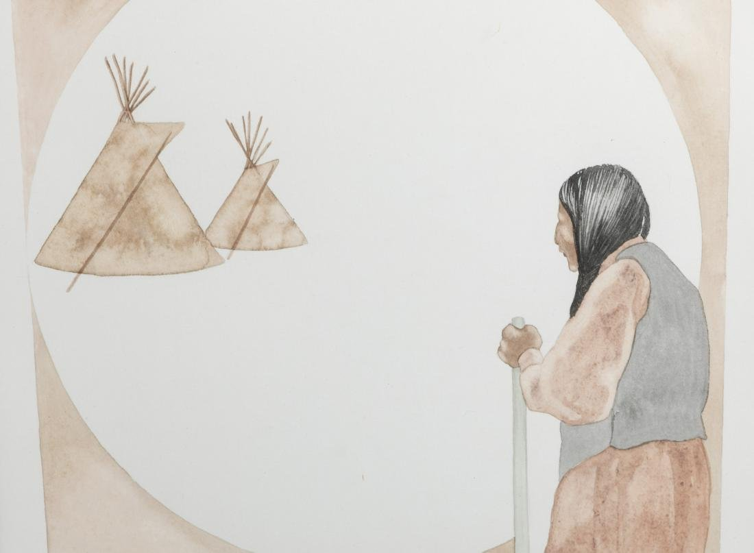 Dyanne Strongbow - Two Native American Watercolors - 4