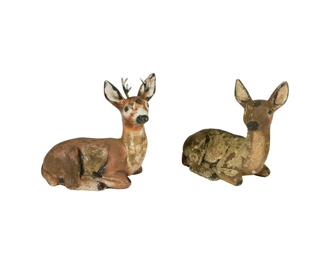 Two Concrete Deer