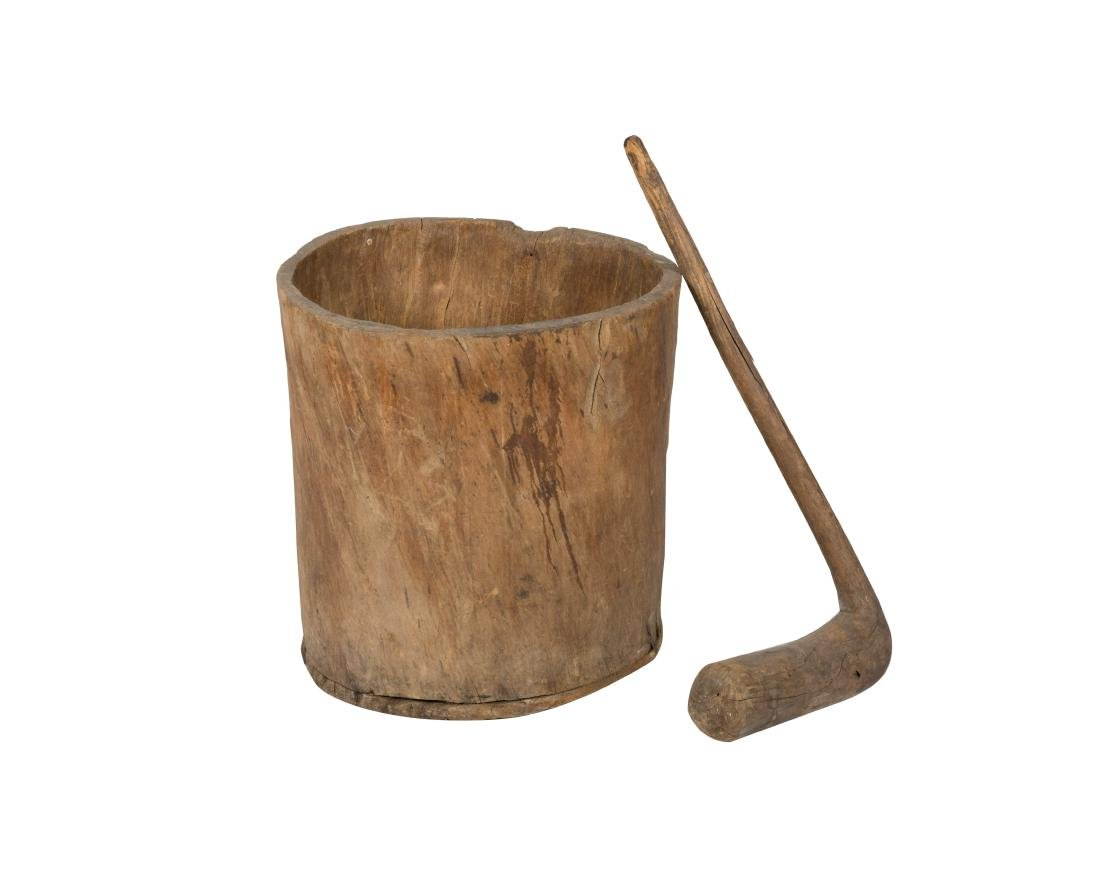 Primitive Tree Trunk Vessel and Mixer
