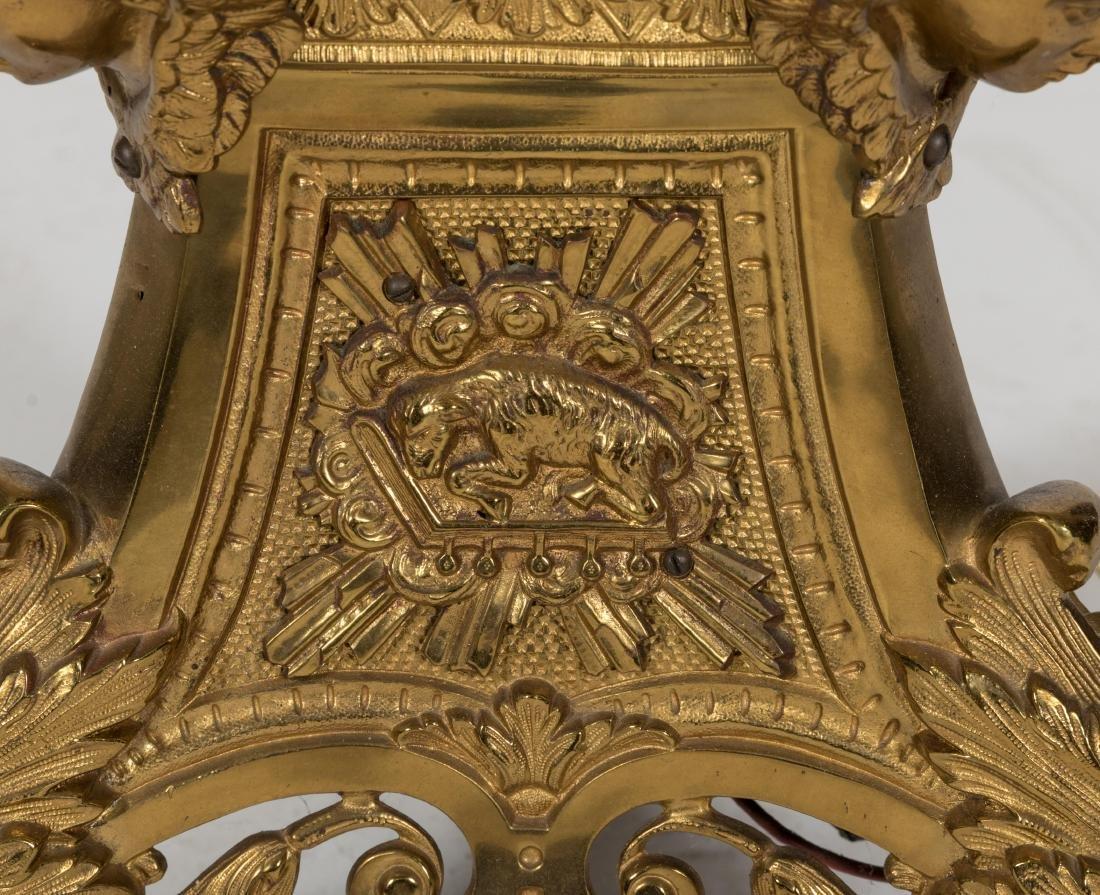 Victorian Brass 9 Light Torchiere - 4