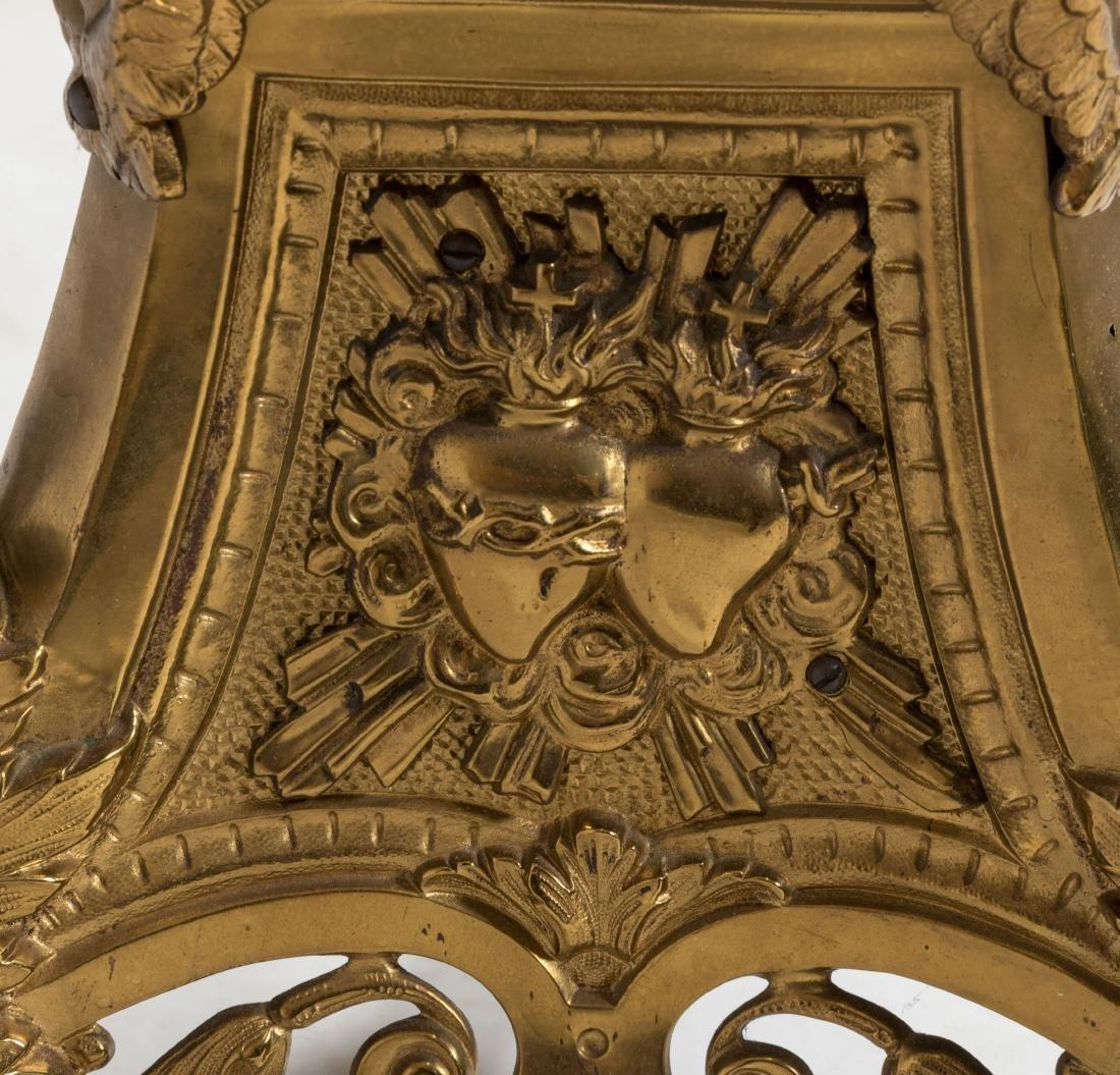 Victorian Brass 9 Light Torchiere - 7