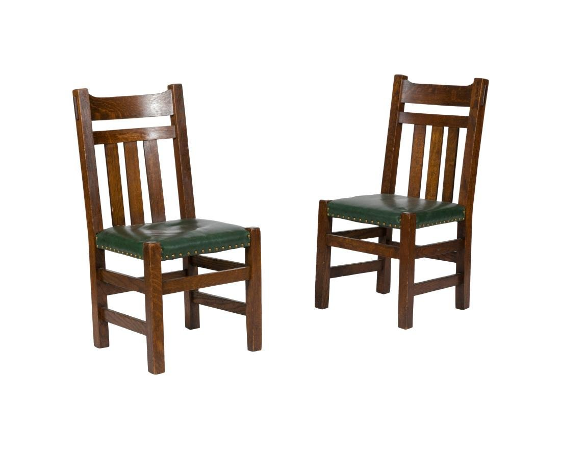 Mission Oak Side Chairs - Pair
