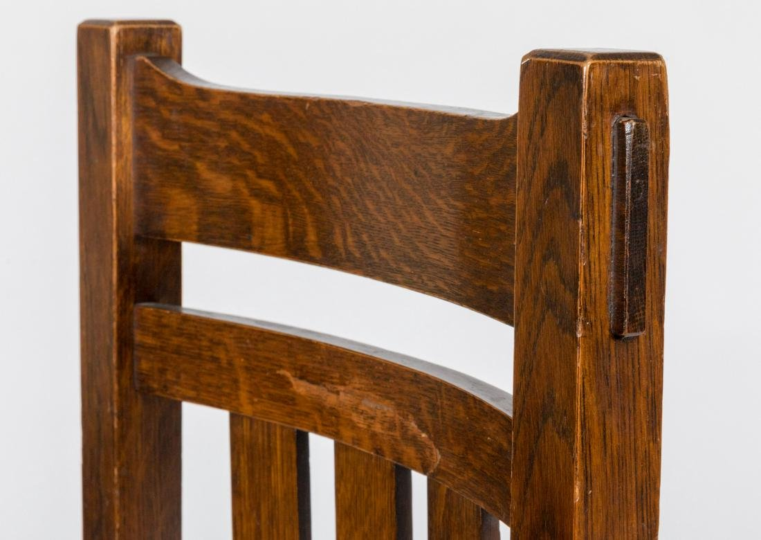 Mission Oak Side Chairs - Pair - 3