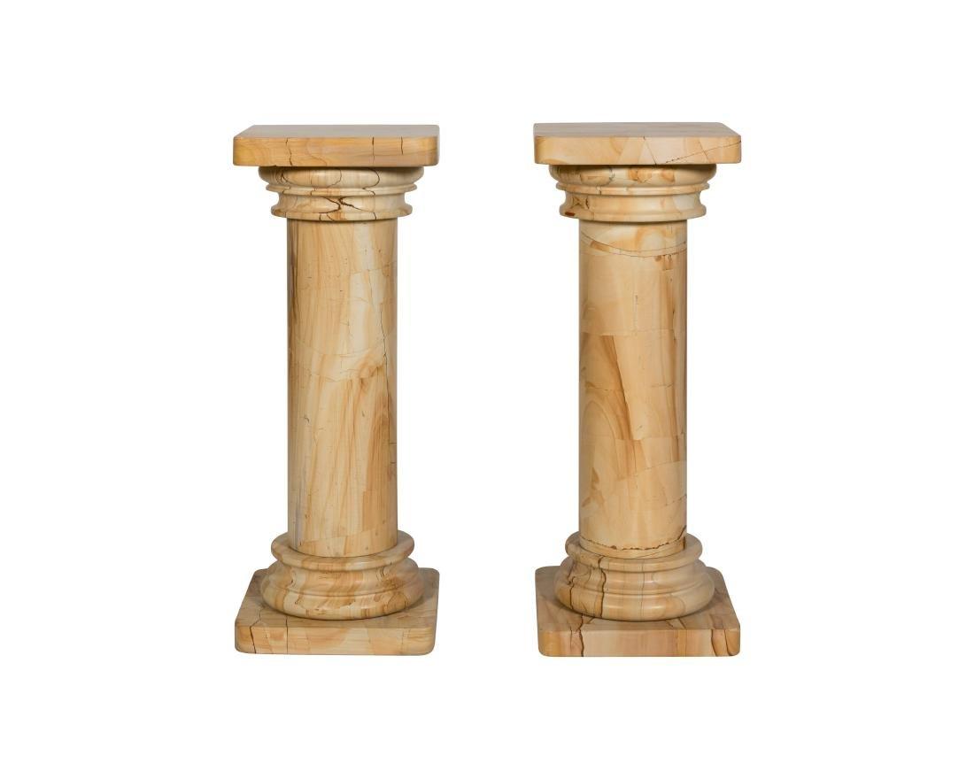 Pair Marble Pedestals