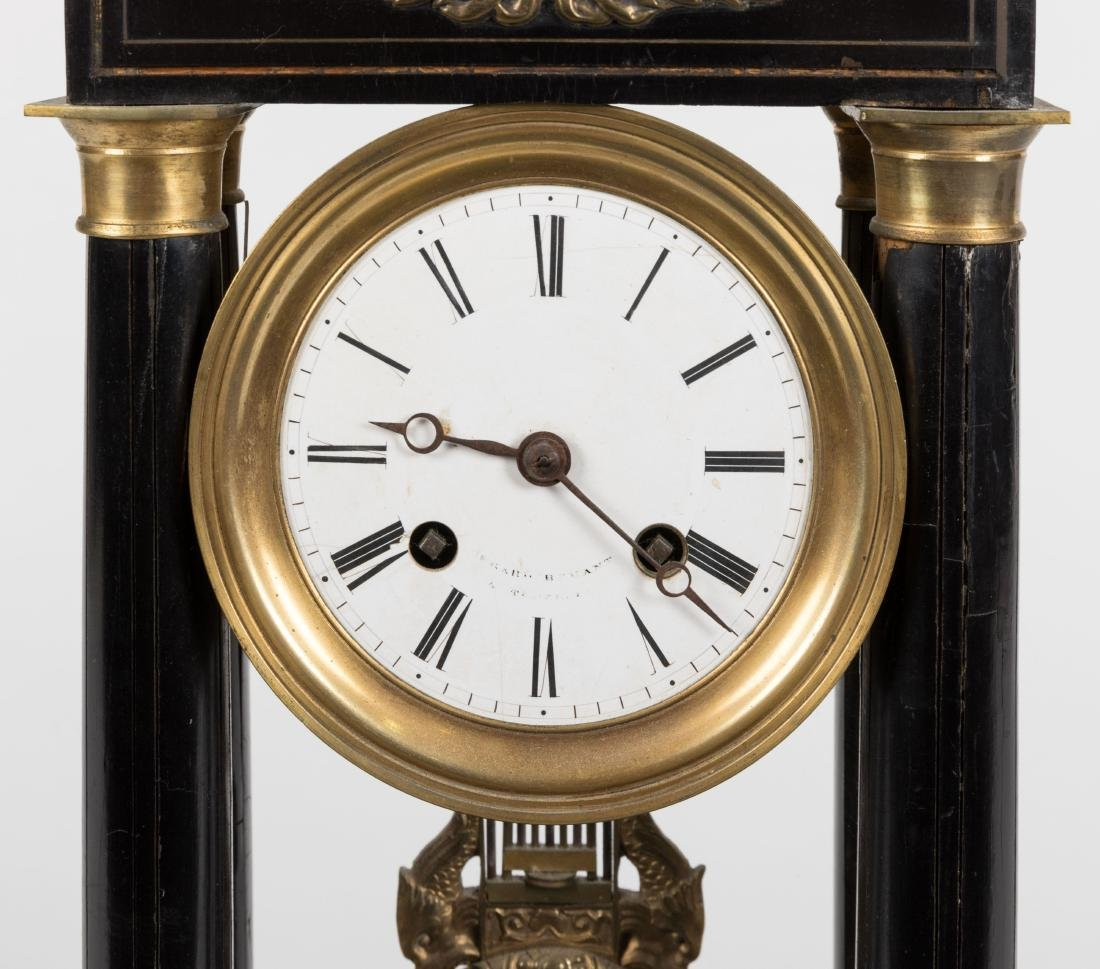 French Empire Bronze Mounted Mantle Clock - 2