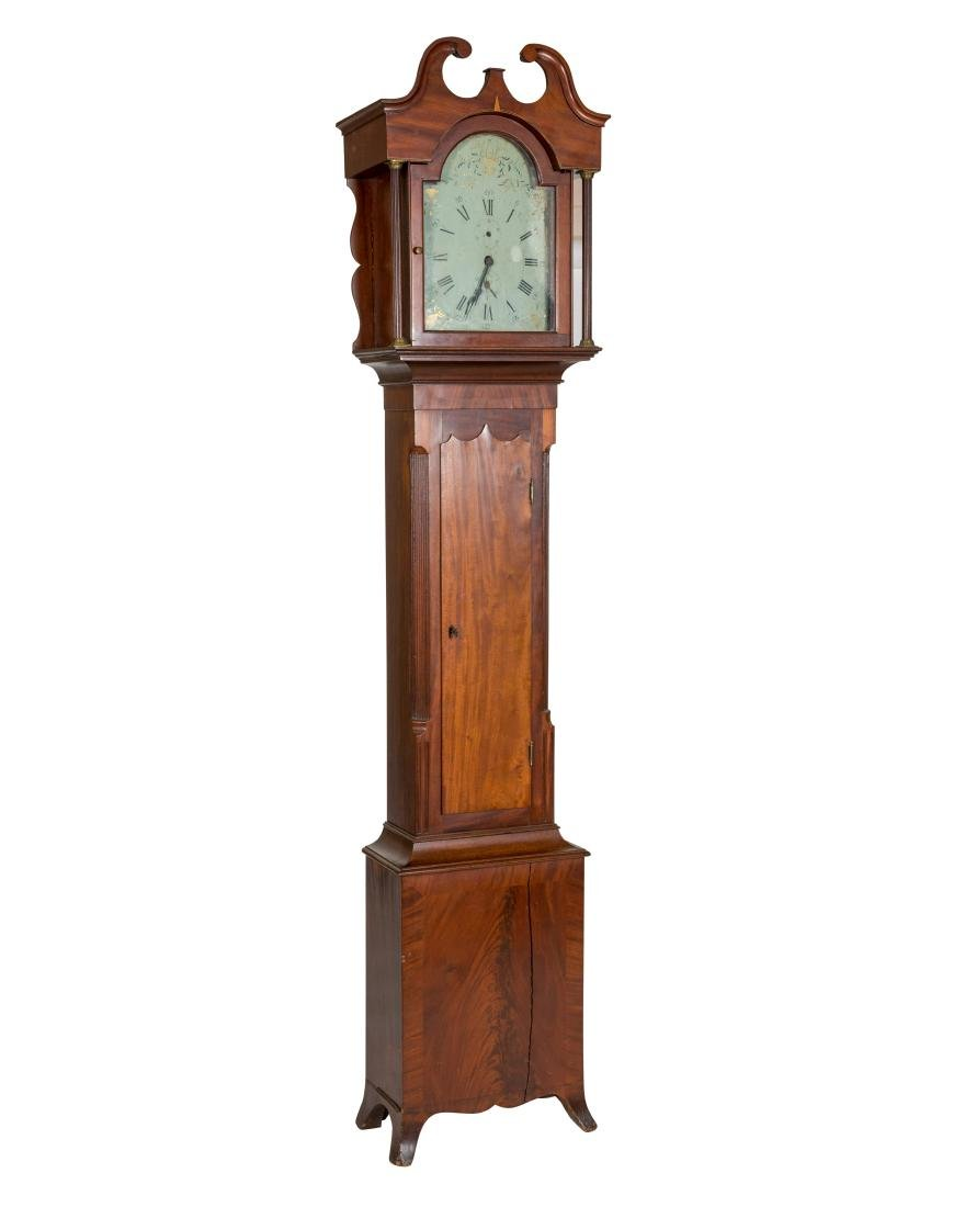 American Mahogany Grandfather Clock