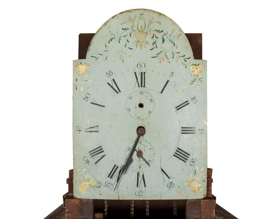 American Mahogany Grandfather Clock - 3