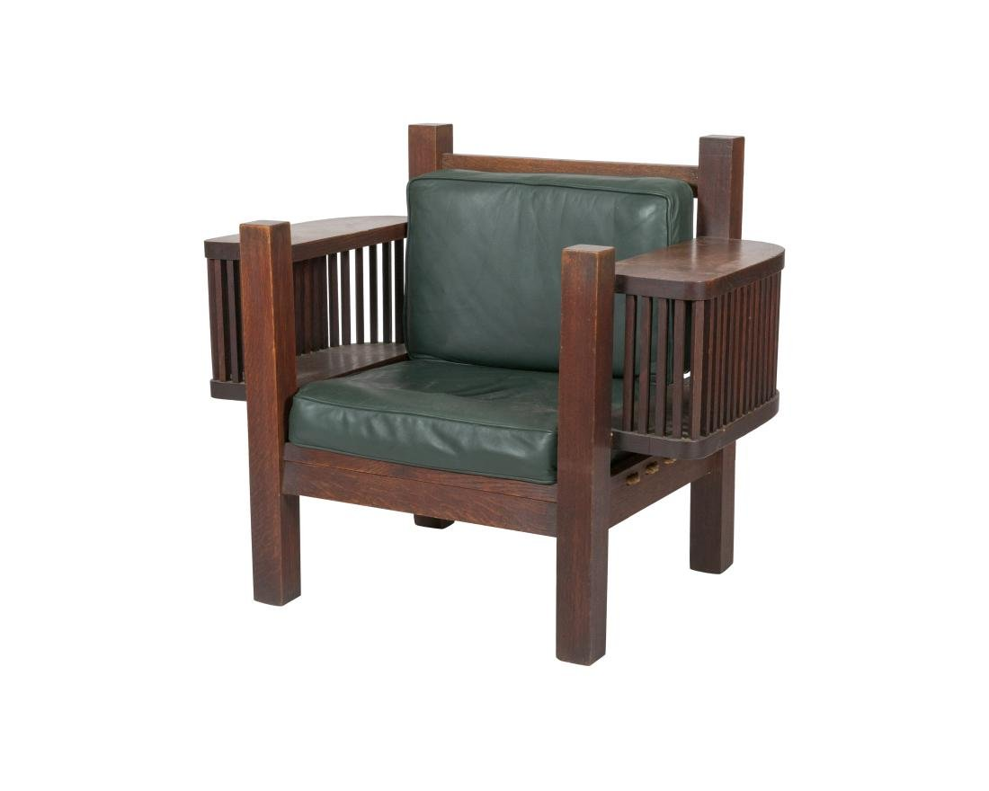 Mission Oak Book Chair