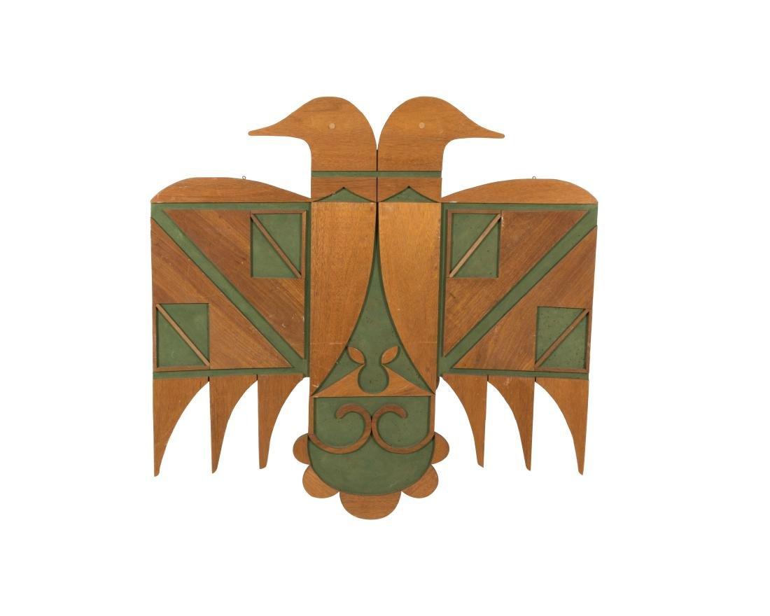 Large Wooden Folk Art Eagle Plaque