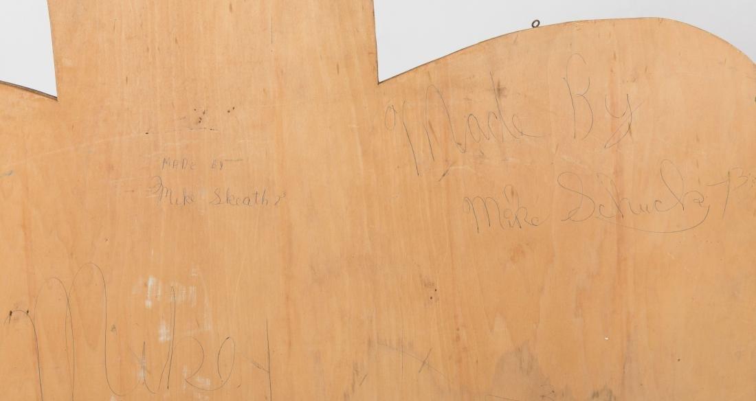 Large Wooden Folk Art Eagle Plaque - 4