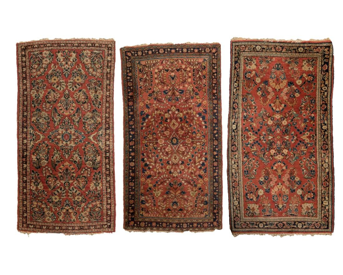 Three Sarouk Mats