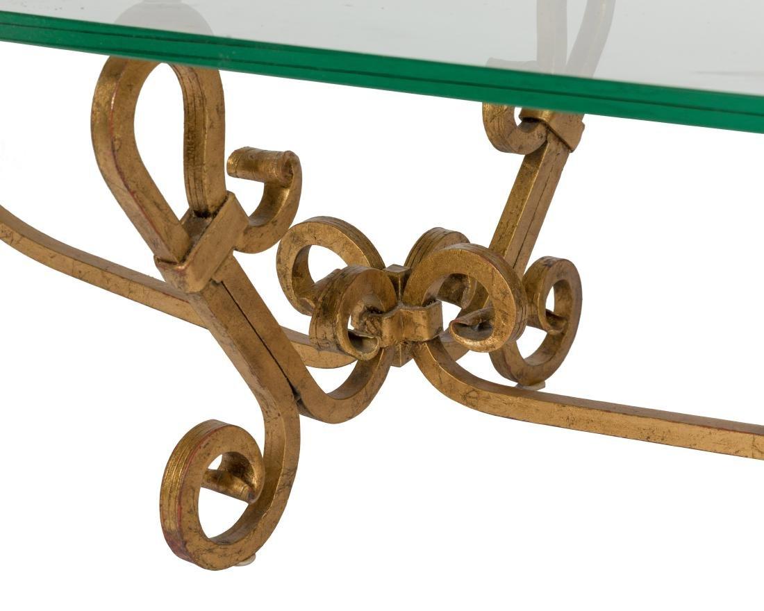 Gilt Iron Glass Top Coffee Table - 2