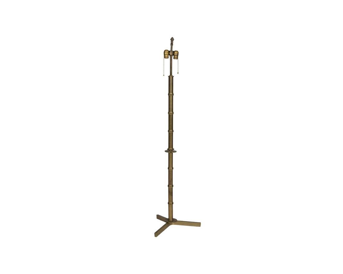 Faux Bamboo Brass Floor Lamp