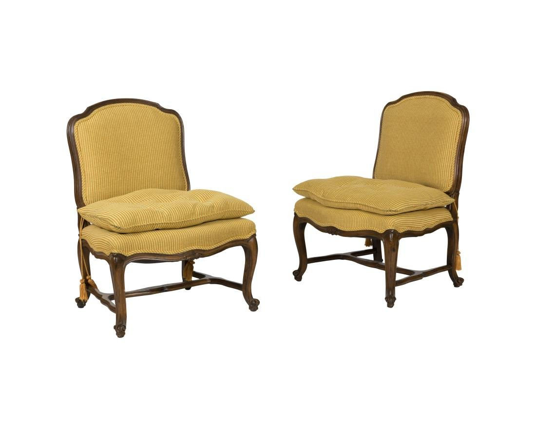 French Style Boudoir Chairs - Pair