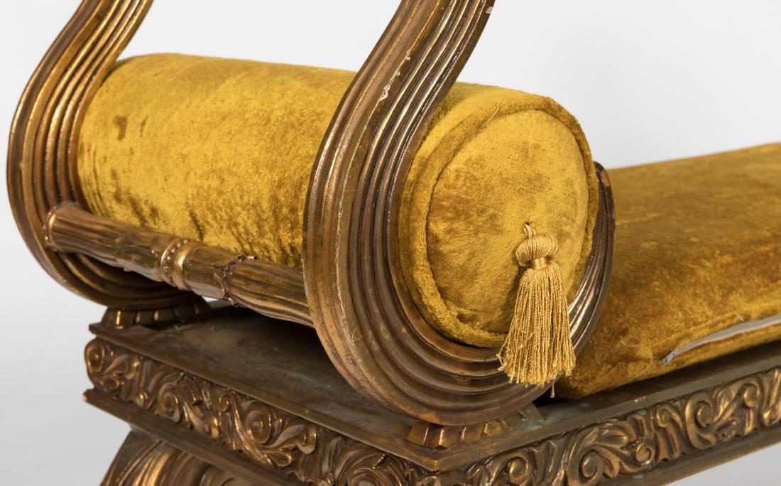 Gold Leaf French Window Bench - 3