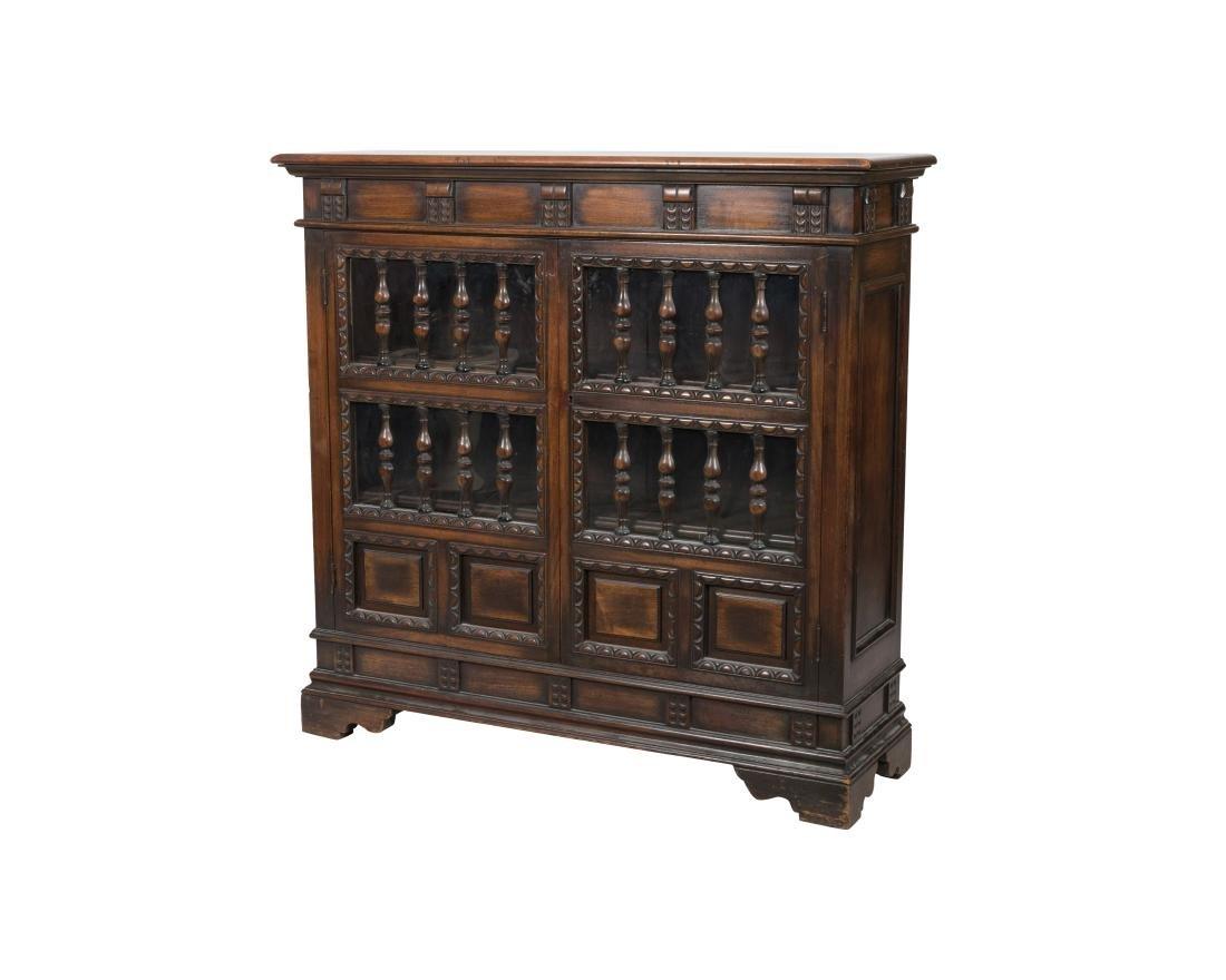 Kittinger Jacobean Style Oak Bookcase