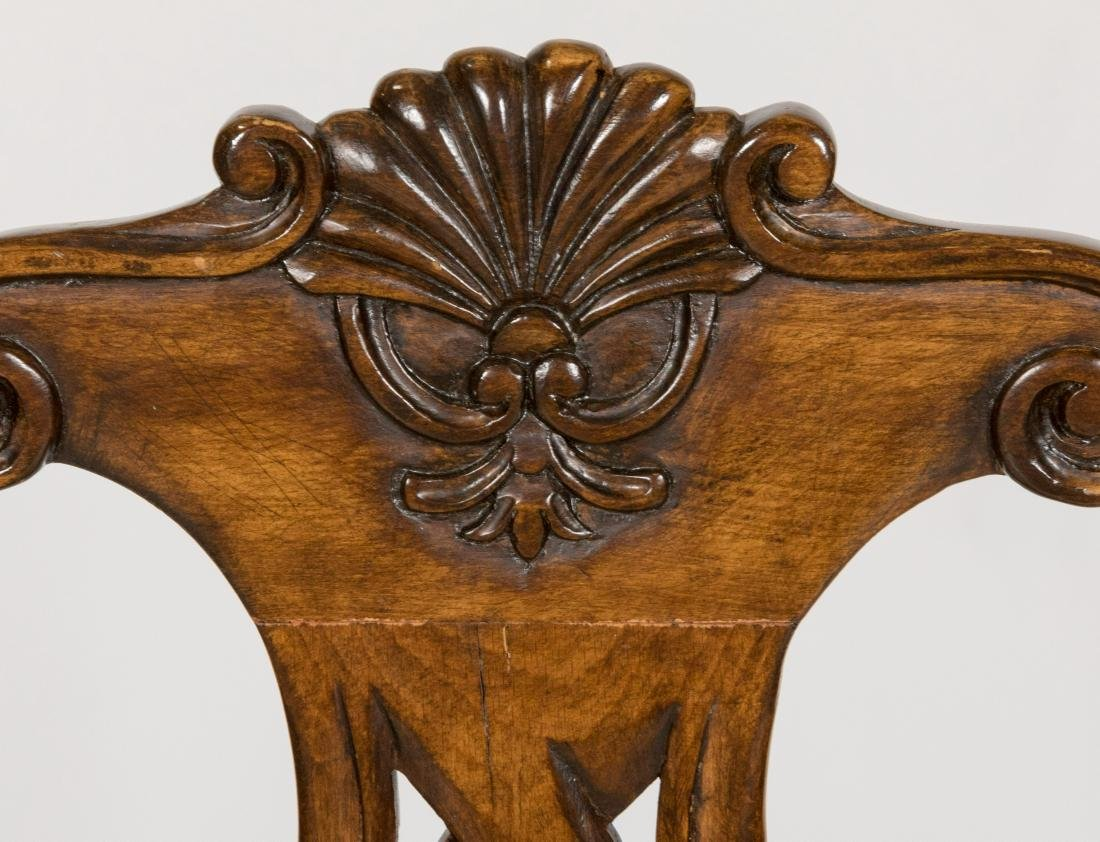 Chippendale Style Walnut Dining Chairs - Six - 3