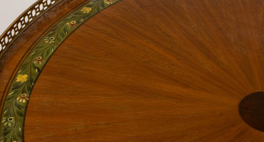 French Style Carved Walnut Table - 2