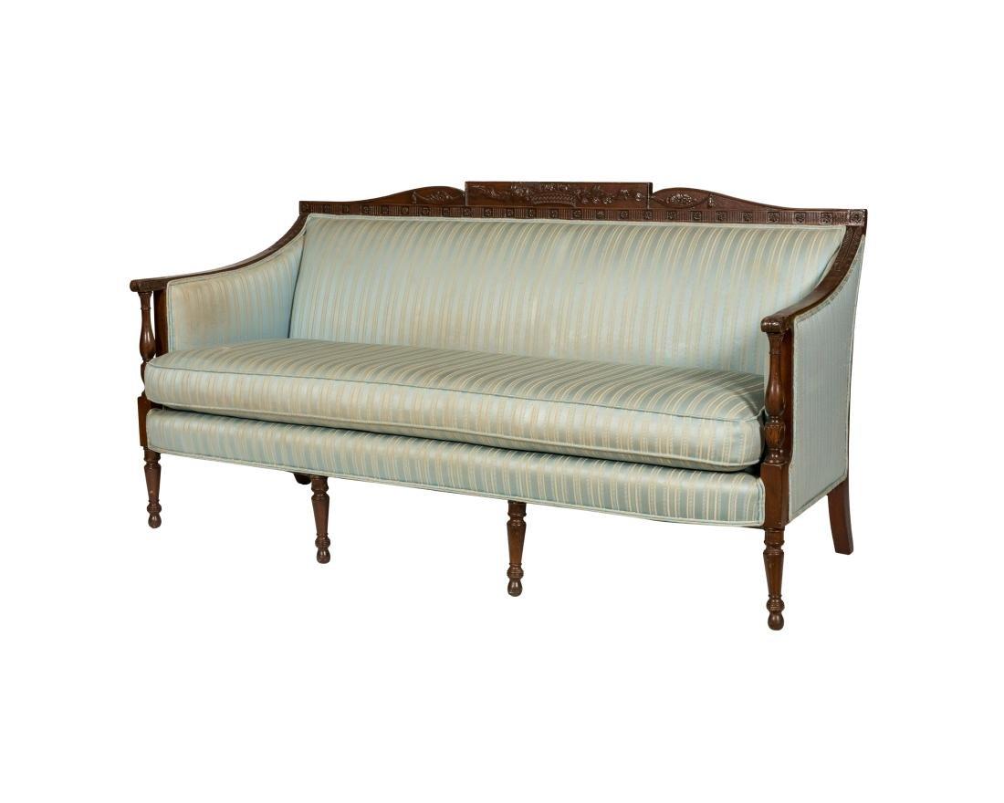 Sheraton Style Mahogany Sofa