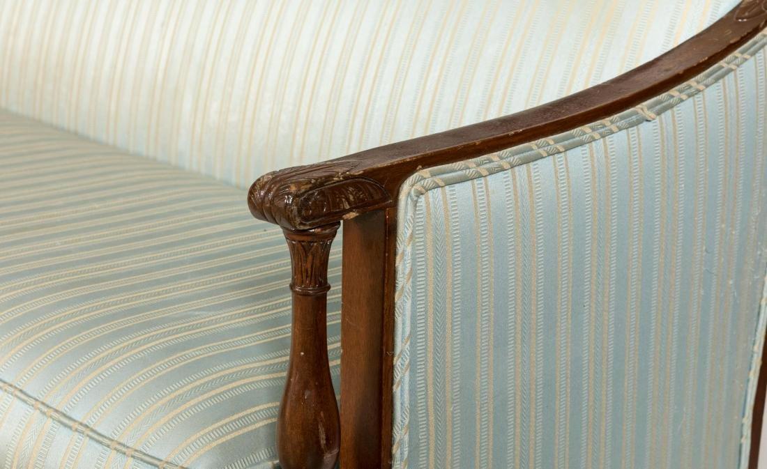 Sheraton Style Mahogany Sofa - 2