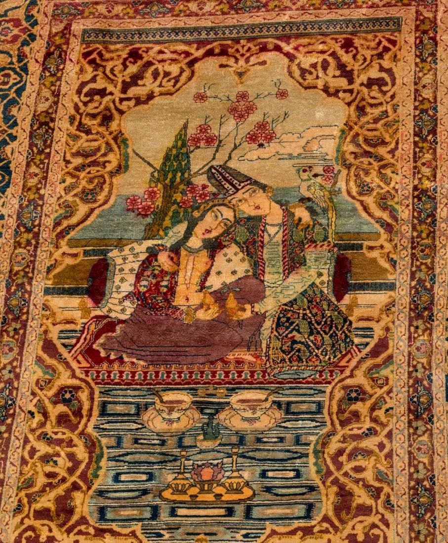 Persian Scenic Wall Hanging Rugs - Pair - 2