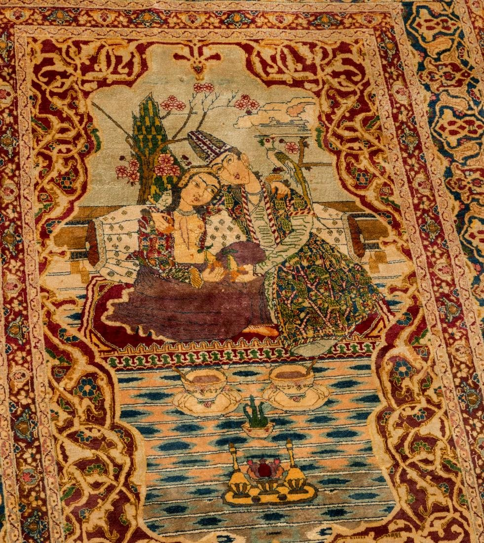 Persian Scenic Wall Hanging Rugs - Pair - 3