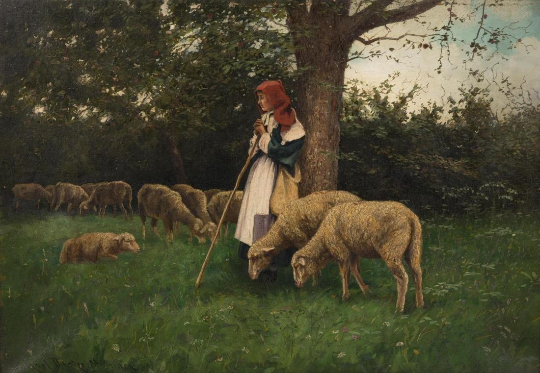 Karl Dietze-Munchen - Oil on Canvas - 2