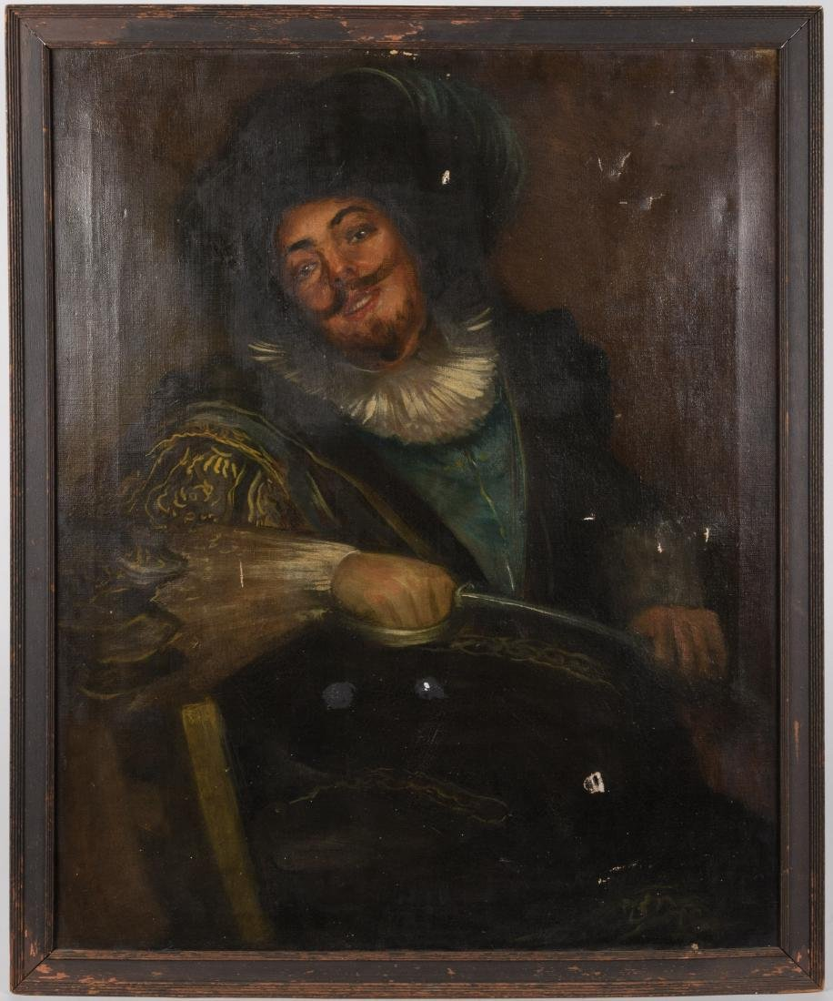 Oil on Canvas of Musketeer