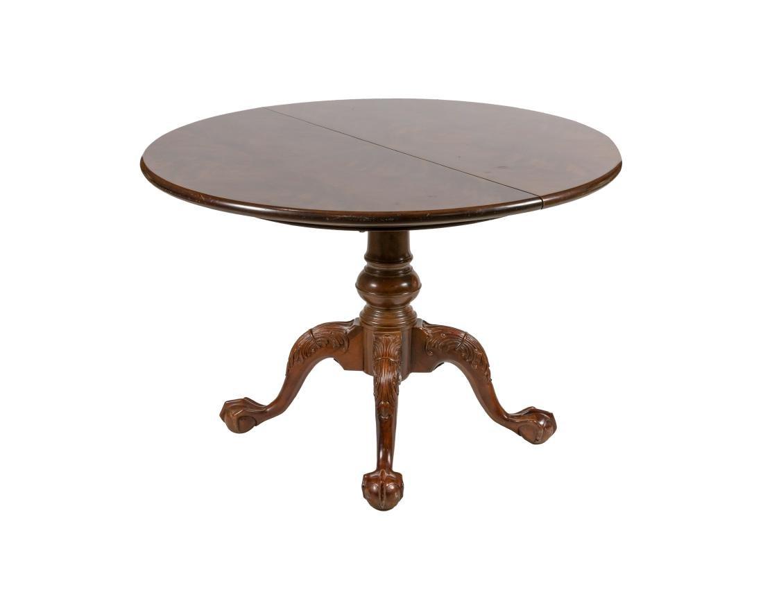 Henredon Mahogany Claw Foot Dining Table