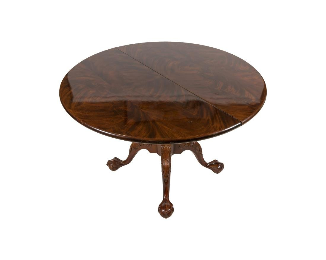 Henredon Mahogany Claw Foot Dining Table - 2