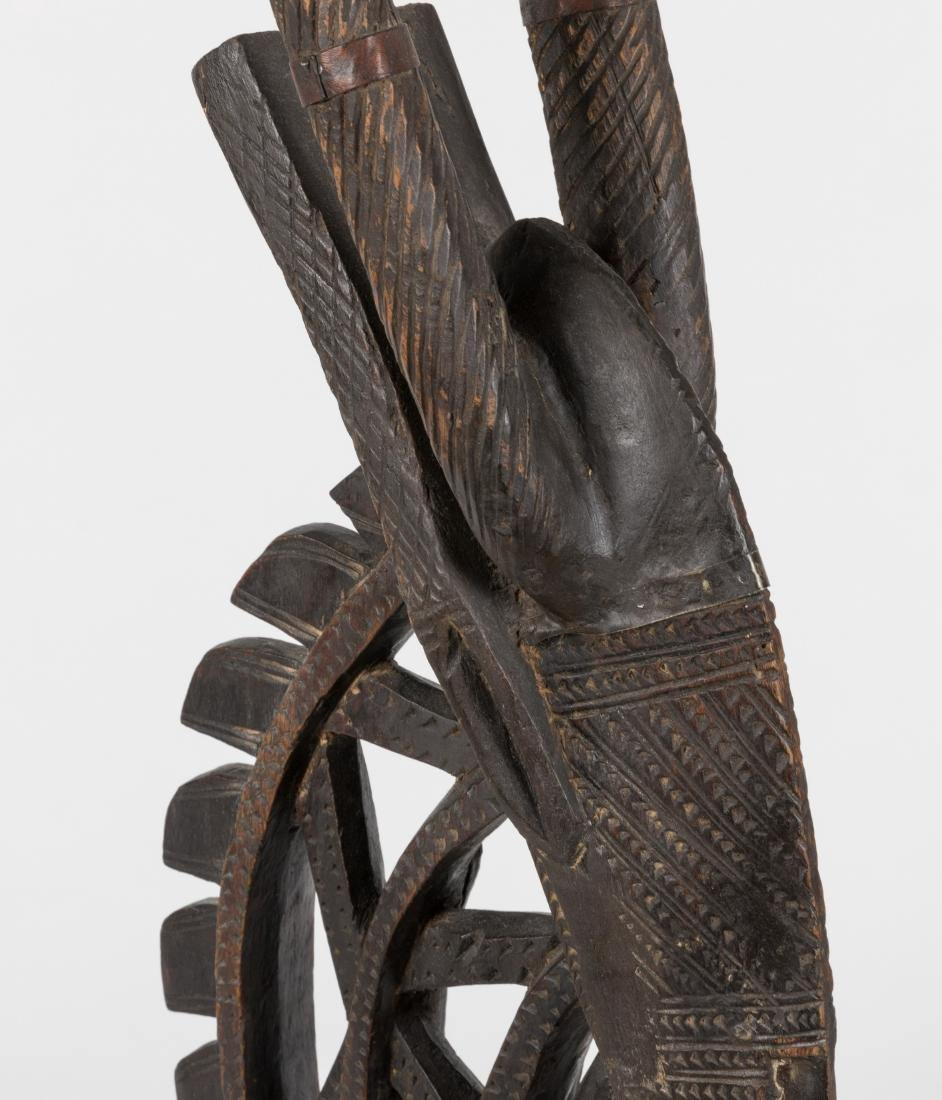 African Carved Chiwara Antelope - 2