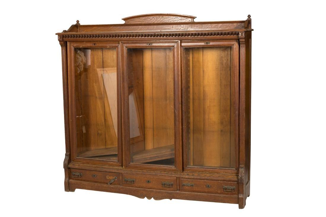 Carved Oak Bookcase