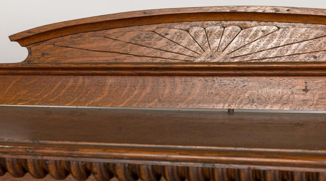 Carved Oak Bookcase - 2