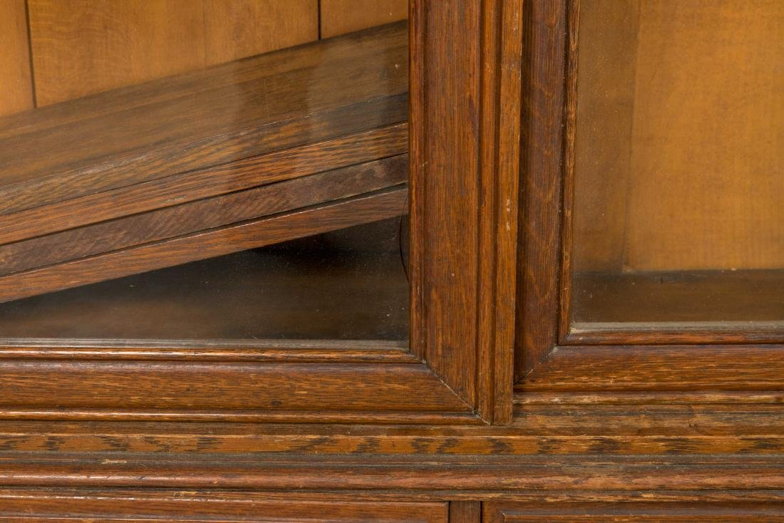 Carved Oak Bookcase - 3