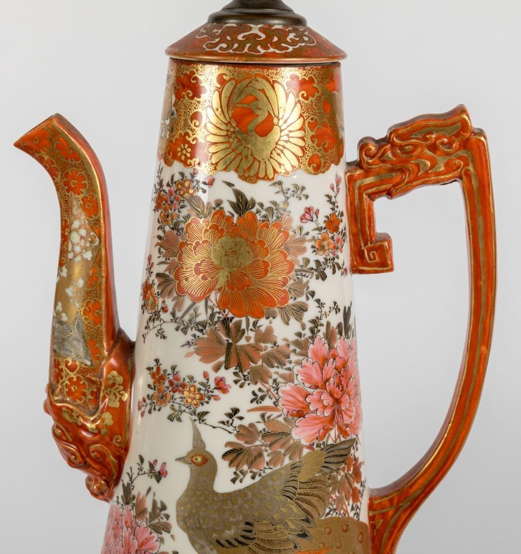 Kutani Teapot Lamps - Pair - 2