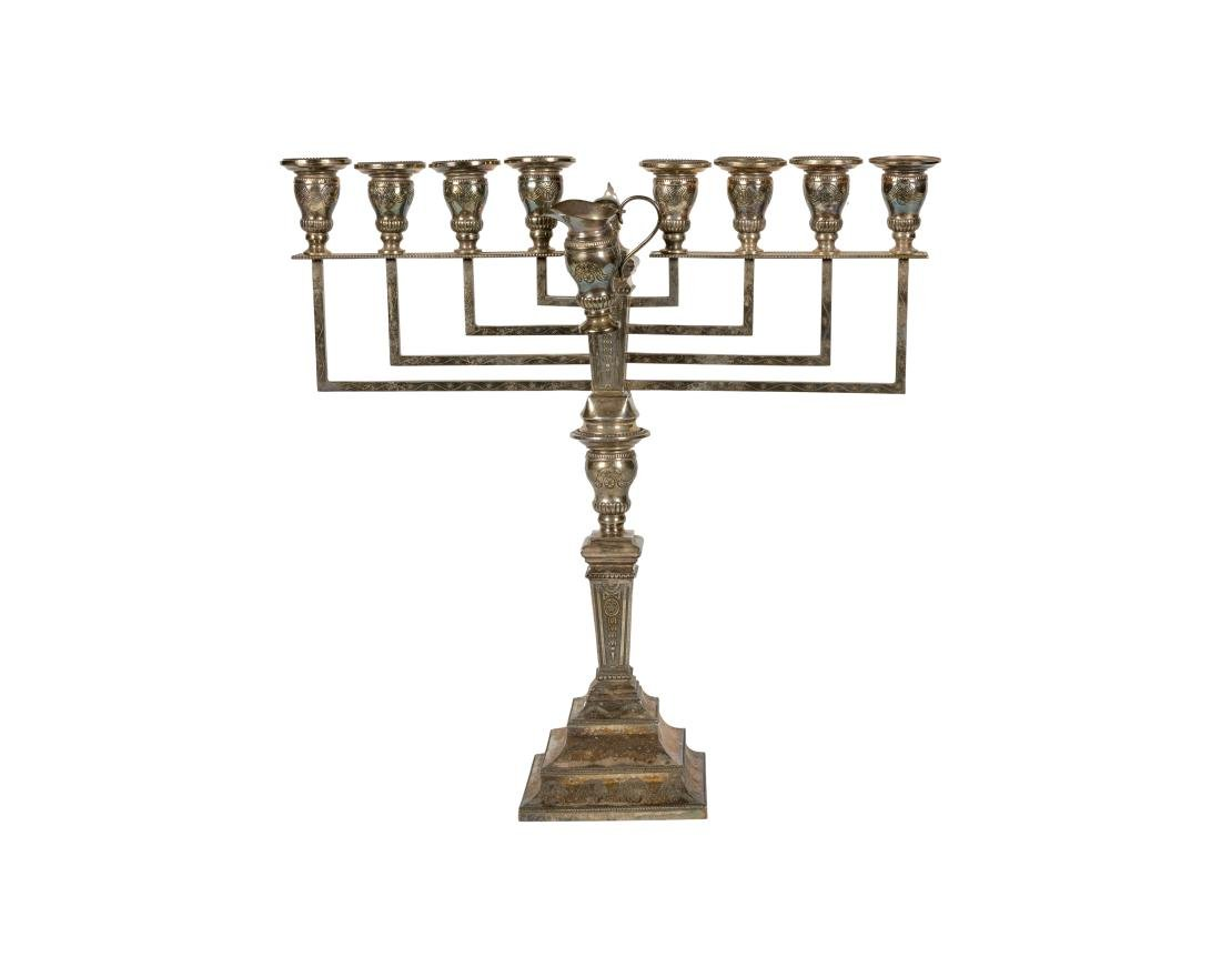 Large Sterling Menorah