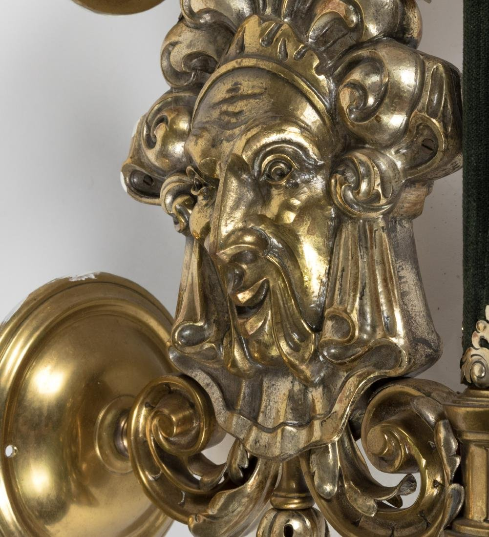 Baroque Style Brass and Copper Touchier Sconces - 2