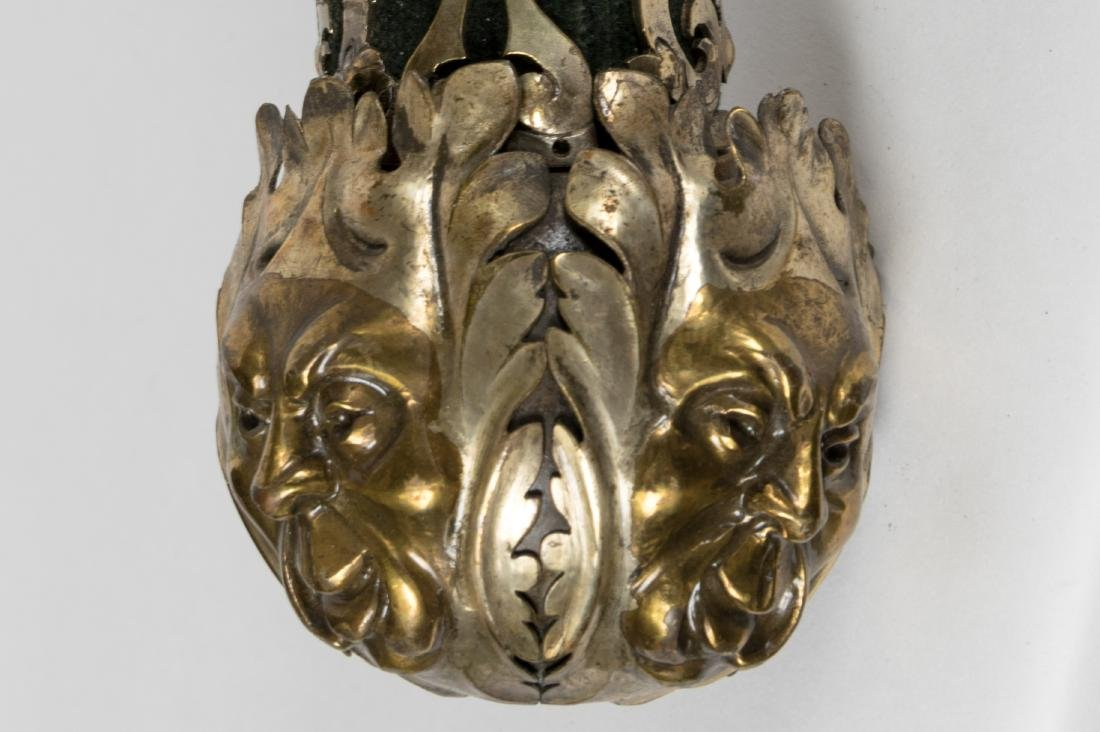 Baroque Style Brass and Copper Touchier Sconces - 5