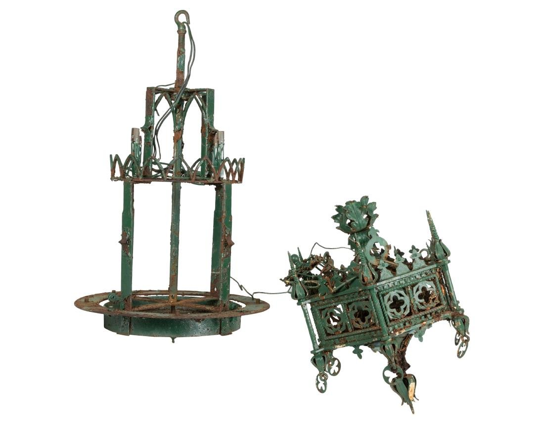 Two Gothic Style Chandeliers