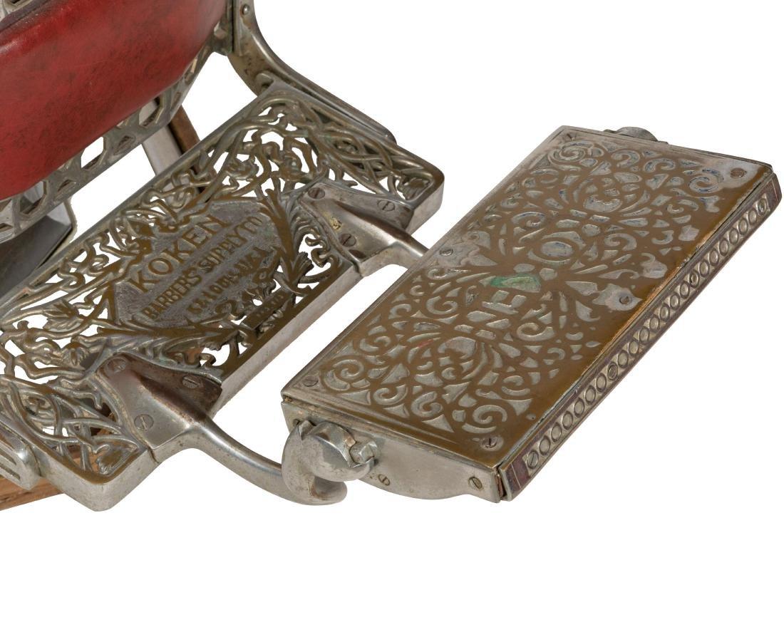 Koken Chrome and Vinyl Barber Chair - 2