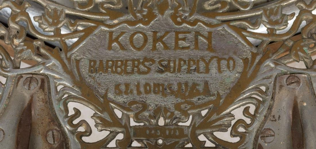Koken Chrome and Vinyl Barber Chair - 5
